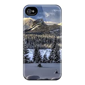 Snap-on Case Designed For Iphone 4/4s- Amazing Winter Lscape Hdr