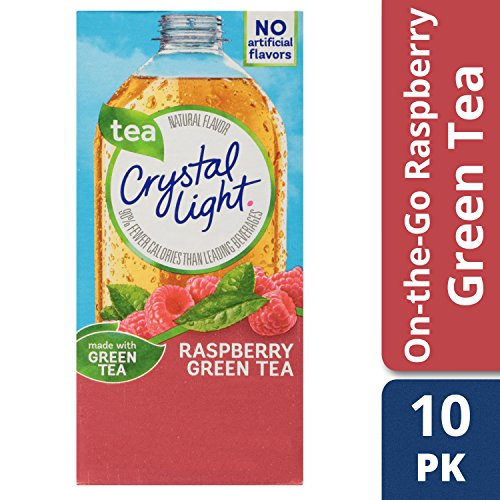 Crystal Light Raspberry Green Tea Drink Mix (120 On the Go Packets, 12 Canisters of 10) (Pitcher Crystal Classic)