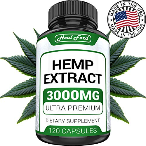 (Hemp Oil Capsules - Best for Pain Relief & Anxiety (3000mg / 120 Capsules) Natural Hemp Extract - for Great Sleep, Rest and Health Benefits - 100% Pure Hem)