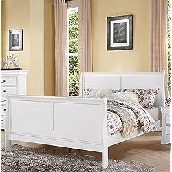 Acme Furniture Louis Philippe III 24497EK Eastern King Bed, White