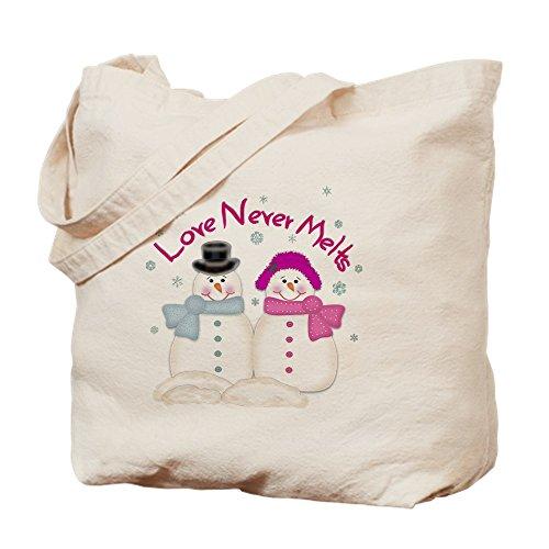 CafePress–Love never schmilzt Schneemänner Damen Night Shi–Leinwand Natur Tasche, Reinigungstuch Einkaufstasche Tote S khaki