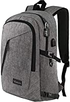 Laptop Backpack, Travel Computer Bag for Women & Men, Slim Business Backpack w/USB Charging Port,Anti Theft Water...