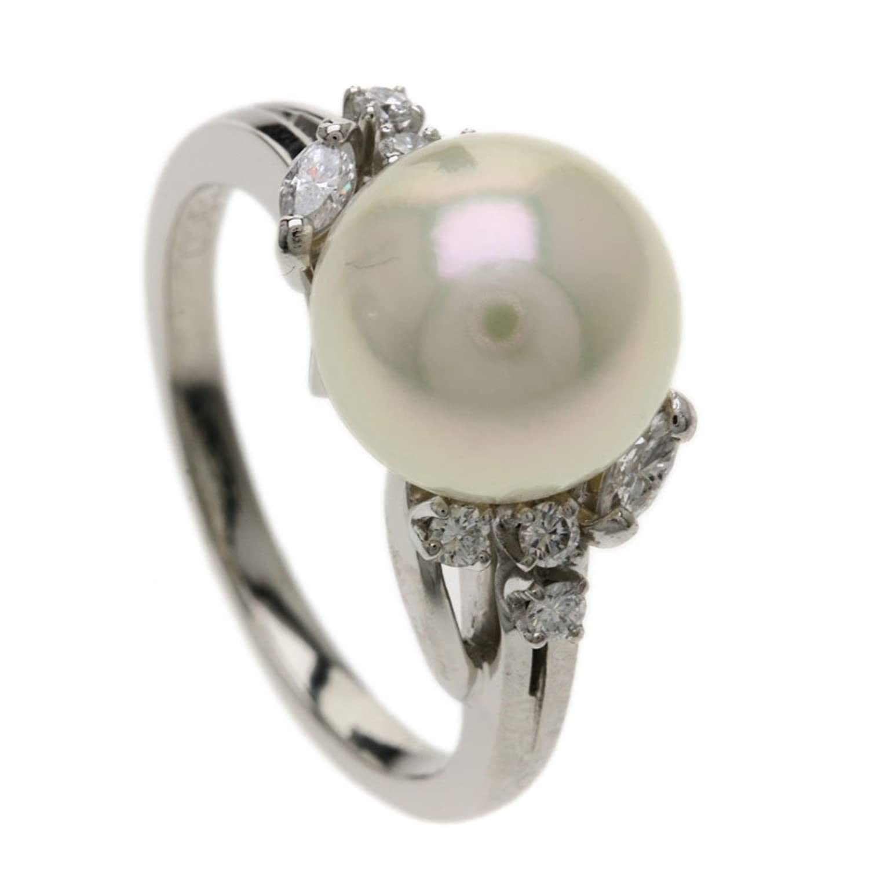 [ミキモト]パール/真珠 ダイヤモンド リング指輪 プラチナPT900 レディース (中古) B079S37WKB