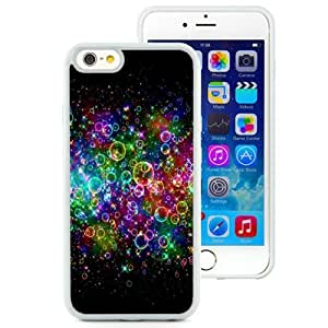 NEW Unique Custom Designed iPhone 6 4.7 Inch TPU Phone Case With Rainbow Colored Soap Bubbles_White Phone Case