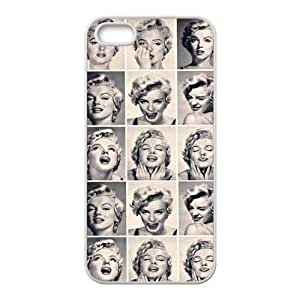 Marilyn Monroe Kinds of Expressions Rubber Case Cover for Apple Iphone 5 Customed Design Fashiondiy