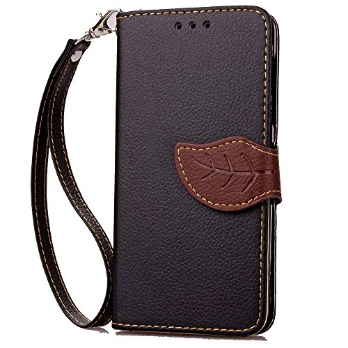 XHD-Protección del teléfono para samsung Estuche Samsung J1mini, estuche para billetera 2 en 1 Estuche protector para estuche rígida desmontable de TPU con cubierta protectora de cuero de poliuretano  Black