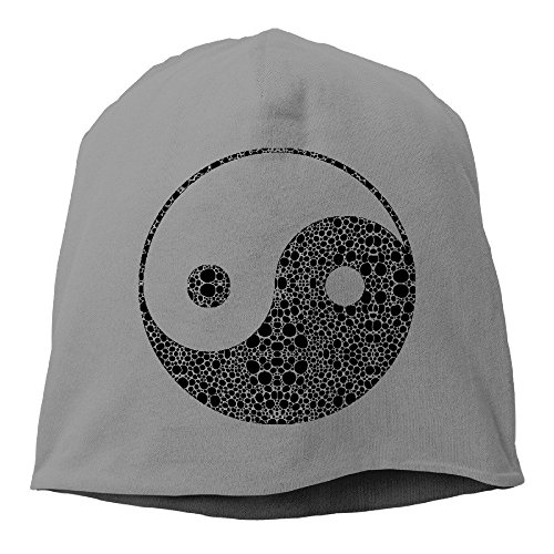 China's Gossip Yin and Yang Funny Knitted Hat One Size Royalblue DeepHeather