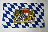 BAVARIA WITH LION FLAG 3' x 5' - GERMANY - GERMAN REGION OF BAVARIA WITH LION FLAGS 90 x 150 cm - BANNER 3x5 ft - AZ FLAG