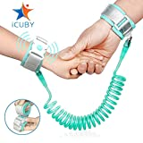 : Upgraded Anti Lost Wrist Link, Kid Leash Harness with Induction Lock, Safety Wrist Leash for Toddlers, Babies & Kids, Wrist Traction Rope for Shopping & Travel (Green)
