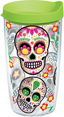 Tervis Colorful Sugar Skull Individual Wrap Tumbler with Lim