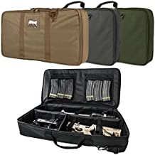 """Tactical Padded Discreet Carbine Rifle Case Takedown Broken Down Upper & Lower Storage 26.0"""" L X 13.0"""" W X 3.0"""" T"""