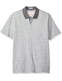 Men's Textured Pop with Contrast Collar 2 Button Polo