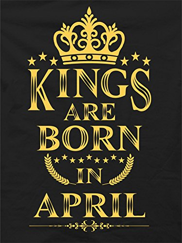 kings are born in april birthday boys t shirt april amazon in