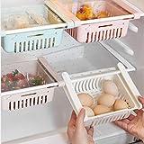 Wffo 1Pcs New Kitchen Article Storage Shelf Refrigerator Drawer Shelf Plate Layer,4 Colors Optional (White)