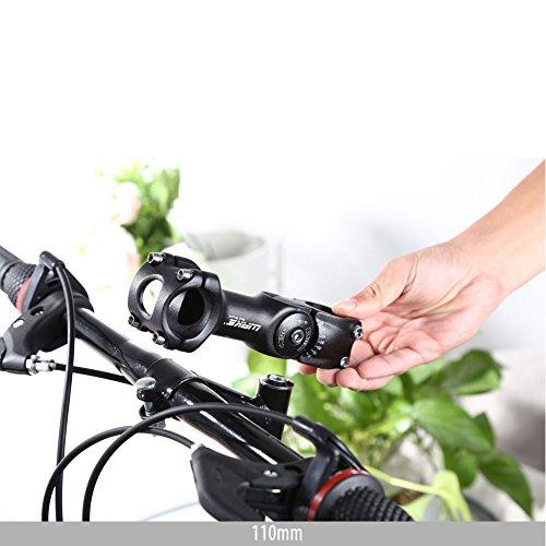 Bike Adjustable Stem 25.4mm 0~60 Degree FOMTOR Adjustable Handlebar Stem for Mountain Bike Road MTB (25.4mm x 110mm,Black) by FOMTOR (Image #5)