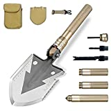Military Portable Folding Shovel [29 inch Length] with Carrying Pouch Army Surplus Multitool Tactical Spade for Camping, Hiking, Hunting, Backpacking, Trench Entrenching Tool, Car Emergency