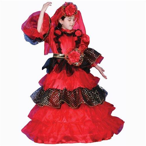 Fire Dancer Costume (Spanish Dancer Deluxe Dress up Costume Set - Toddler T4)