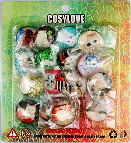 Cosylove 16pcs Imanes de refrigerador con Forma de Gato Lindo ...