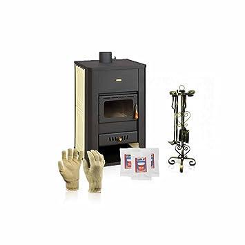 Caldera de leña estufa Prity, Modelo S3 W17, salida de calor 22 kW: Amazon.es: Bricolaje y herramientas