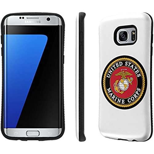Galaxy S7 Edge / GS7 Edge Case, [NakedShield] [Black Bumper] Heavy Duty Shock Proof Armor Art Phone Case - [USMC] for Samsung Galaxy S7 Edge / GS7 Edge [5.5 Sales