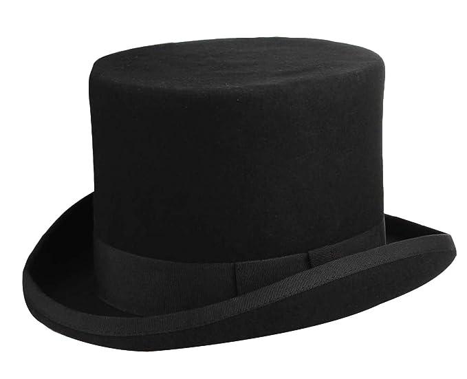 V-SOL GEMVIE Sombrero de Copa Hombre Mujer Disfraz Mágico Retro Negro   Amazon.es  Ropa y accesorios 531fc77b8712
