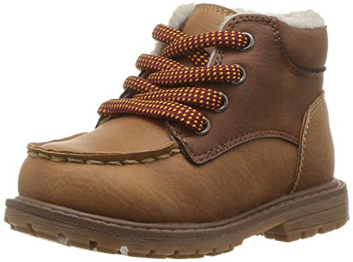 Picture of Oshkosh B'Gosh  Boys' Crowes Lace up Sherpa Fashion Boot, Tan, 11 M US Little Kid