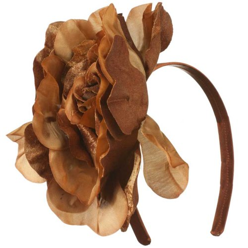 Jeanne Simmons 6 Inch Flower Satin Covered Headband - Bronze W15S70C