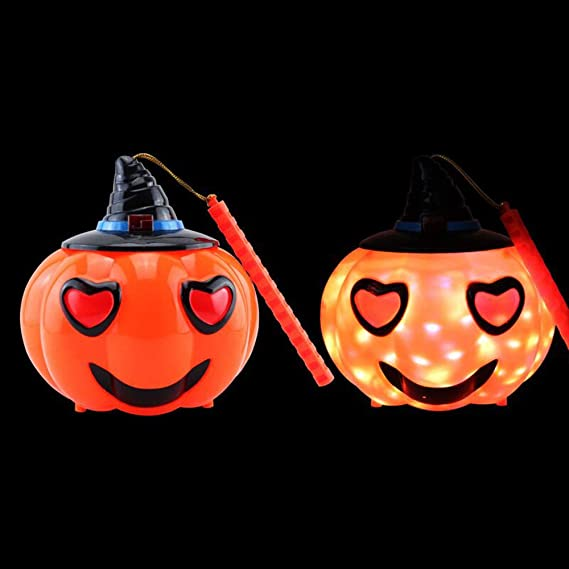 Expxon Pumpkin Expression Light, Halloween Decoration Props Ghosts Called Horror Hand Pumpkin Light Ghosts Kid