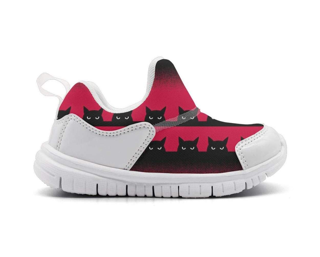 ONEYUAN Children Black cat Watching You Kid Casual Lightweight Sport Shoes Sneakers Running Shoes