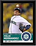 "Felix Hernandez Seattle Mariners Sublimated 10.5"" x 13"" Plaque - Fanatics Authentic Certified - MLB Player Plaques and Collages"
