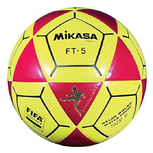 Mikasa ft5 Goal Master Soccer Ball、レッド/イエロー、サイズ5 B07BB13K69