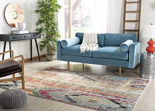 "Safavieh Monaco Collection Modern Bohemian Multicolored Distressed Area Rug (6'7"" x 9'2"") from Safavieh"
