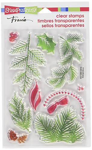 Stampendous Christmas Greenery Clear Stamp Set