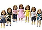 made in china stuff - 7PCS Daily Casual Clothes/ Outfits fit for American Girl Doll and other 18 inch DOLL XMAS GIFT
