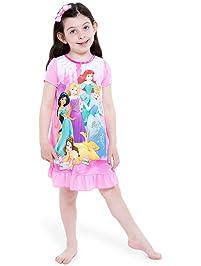 91ac79fbf3 Disney Princess Girls Long Sleeve Nightgown Pajamas