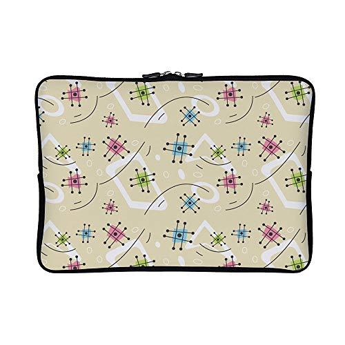 DKISEE Abstract Mid Century Pattern Neoprene Laptop Sleeve C