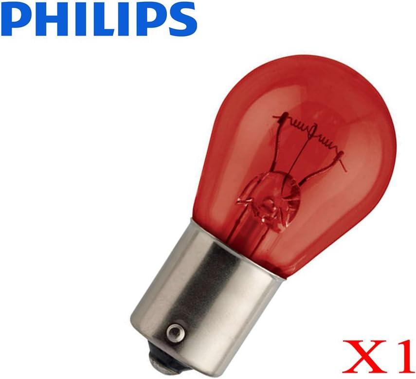 Kugellampen 12 V rot PHILIPS 21 W BAU15s