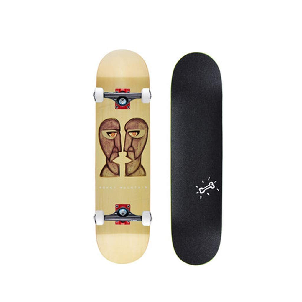 YYFRB ロングボードスケートボードダブルカーブメープルボード大人のブラシストリートショートボードスクーター20×80 cm スケートボード (Color : A) A