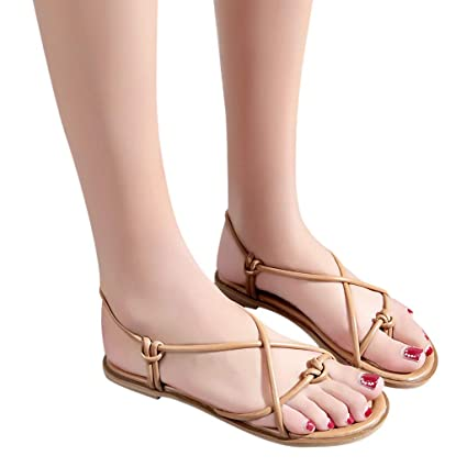 1a528e5e5e9b Image Unavailable. Image not available for. Color  Womens Casual Clip Toe  Flat Sandals ...