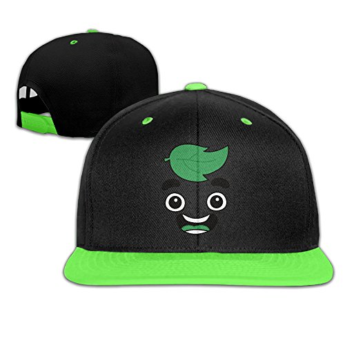 Kids Guava Juice Falt Hat Hip Hop Baseball Cap Kellygreen