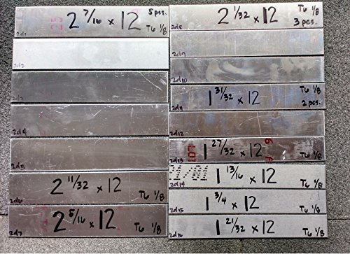 Lot 2D , 16 Pcs Aluminum Plate 1/8 all 12