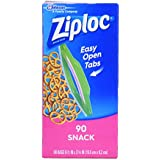 Ziploc Snack Bag Value Pack, 90 count  (Pack of 3)