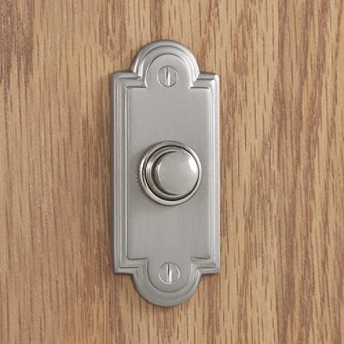 Satin Chrome Doorbell - Naiture Brass Doorbell in Satin Chrome Finish