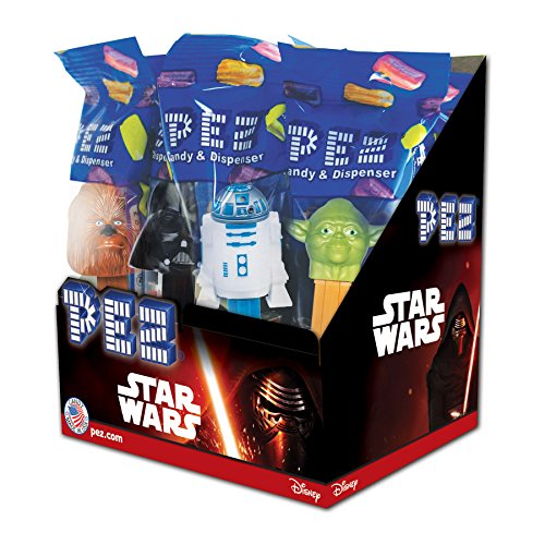 24 Dispensers - PEZ Star Wars, Assorted Dispensers, 0.58 Ounce (Pack of 12)
