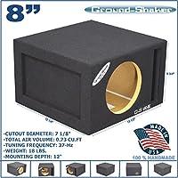 8 SINGLE VENTED SLOT PORTED SPEAKER SUB BOX SUBWOOFER ENCLOSURE GROUND-SHAKER
