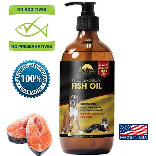 - Wild Alaskan Salmon Fish Oil Pet Food supplement, 100% pure Natural Omega 3 Support for Dry Skin, Allergies, Heart & Immune Health. Fatty Acids for skin, coat & Joint Health in Dogs, Cats-16oz