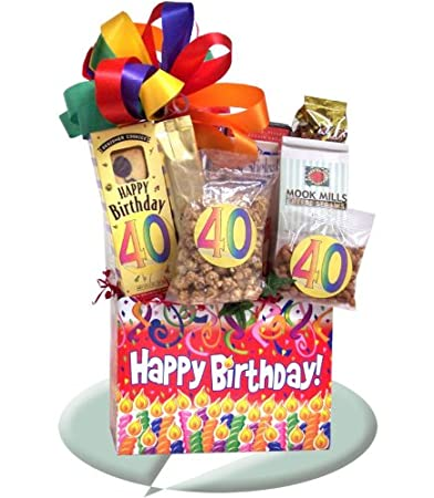 40th Birthday Party Ideas Gift Basket