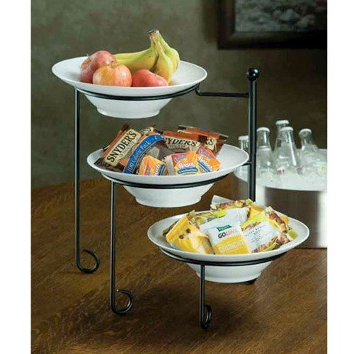 American Metalcraft TTRS3 Three-Tier Foldable Stand, Round, 22