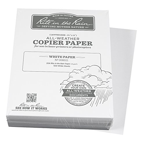 "UPC 632281208518, Rite in the Rain All-Weather Bulk Copier Paper, 8 1/2"" x 11"", 20# White, 500 Sheet Pack (No. 208511)"