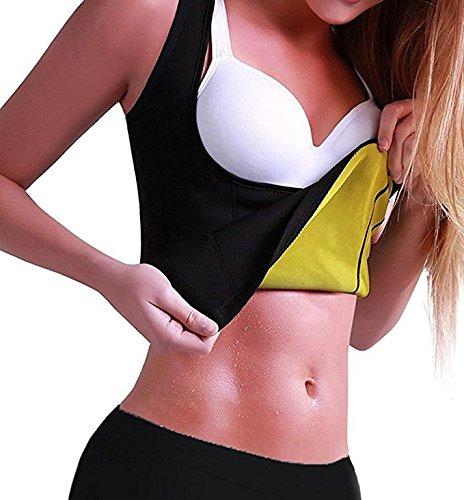 320825762a7 Amazon.com   ISEYMI Women s Slimming Vest Hot Sweat Body Shaper Shirt for Weight  Loss Sauna Tank Top Neoprene Vest NO Zip   Sports   Outdoors